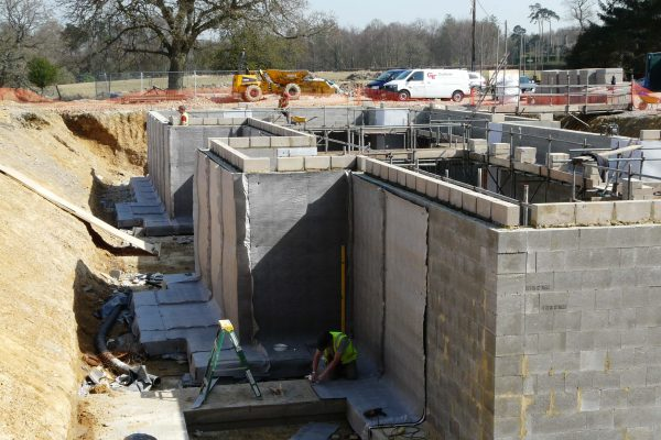 2012 Structural Waterproofing works to new build in West Sussex
