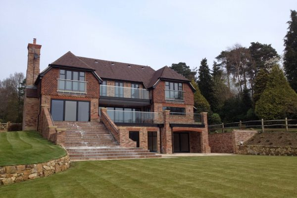 2014 External deck waterproofing on new build project in East Sussex