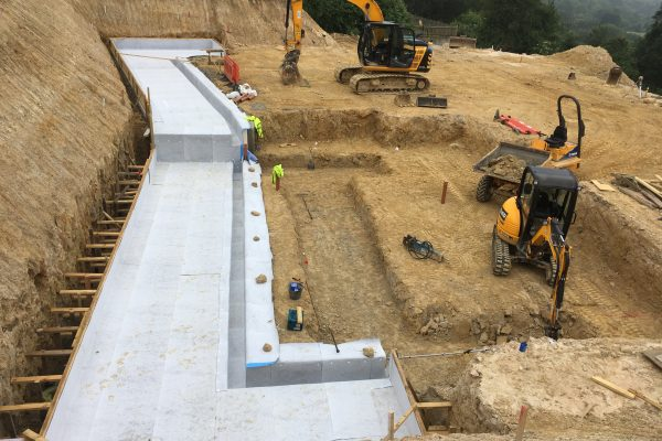 2018 New build project in Goudhurst with Newton 403 Hydrobond laid on insulation layer.